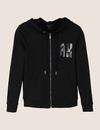 A|X INVADERS SEQUIN ZIP-UP HOODIE
