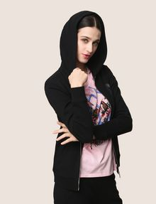 ARMANI EXCHANGE A|X INVADERS SEQUIN ZIP-UP HOODIE Fleece Jacket Woman a