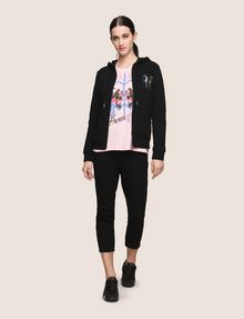 ARMANI EXCHANGE A|X INVADERS SEQUIN ZIP-UP HOODIE Fleece Jacket Woman e