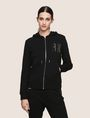 ARMANI EXCHANGE A|X INVADERS SEQUIN ZIP-UP HOODIE Fleece Jacket Woman f