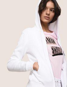 ARMANI EXCHANGE A|X INVADERS SEQUIN ZIP-UP HOODIE Fleece Jacket Woman a