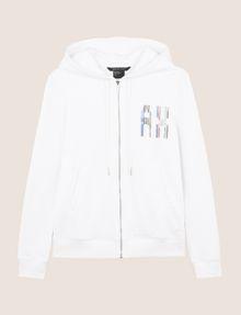 ARMANI EXCHANGE A|X INVADERS SEQUIN ZIP-UP HOODIE Fleece Jacket Woman r