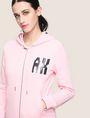 ARMANI EXCHANGE A|X INVADERS SEQUIN ZIP-UP HOODIE Fleece Jacket Woman b