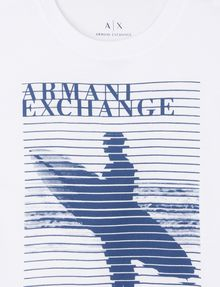 ARMANI EXCHANGE BOYS STRIPED SURFER TEE Logo T-shirt Man d