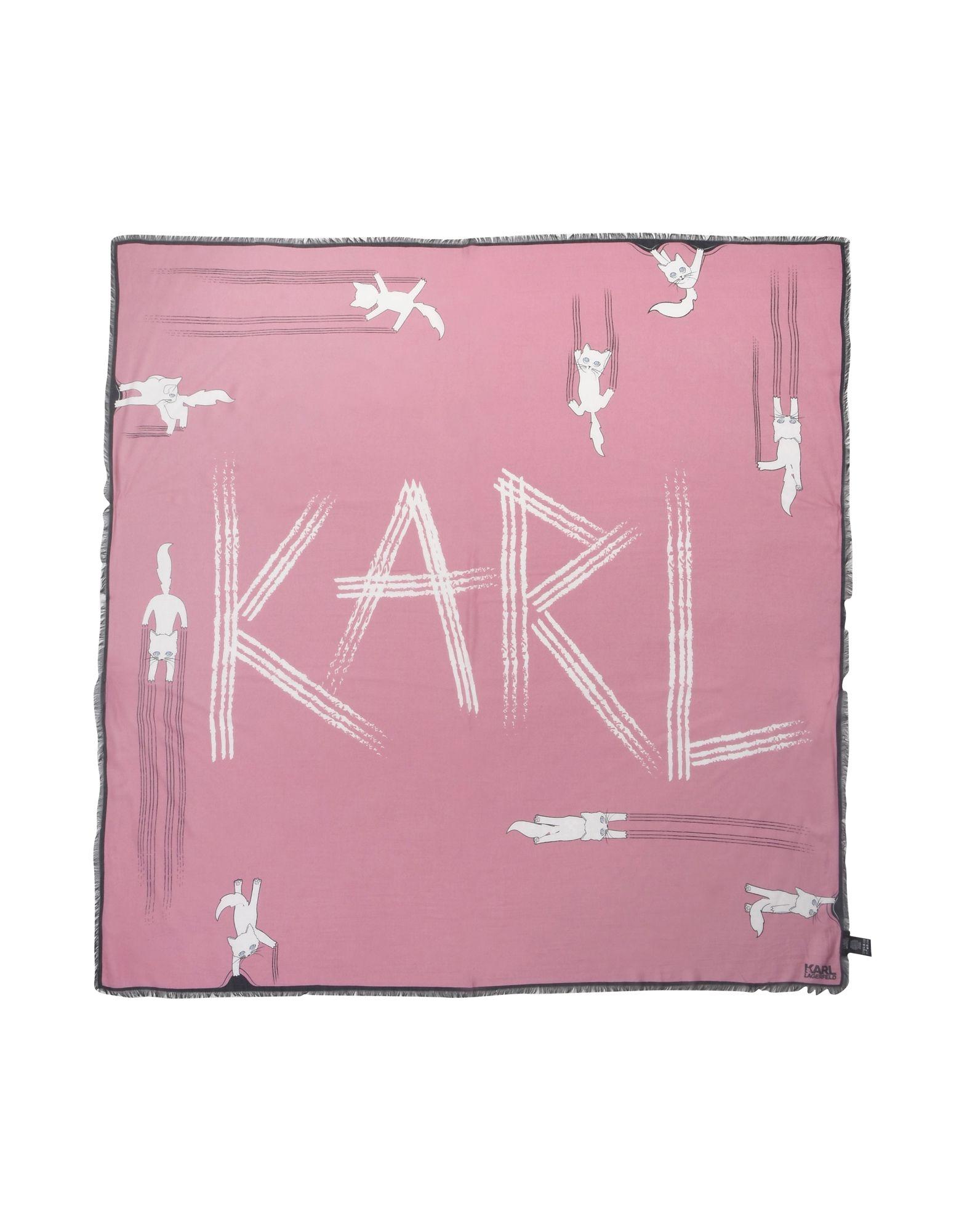 《セール開催中》KARL LAGERFELD レディース マフラー ピンク レーヨン 85% / シルク 15%
