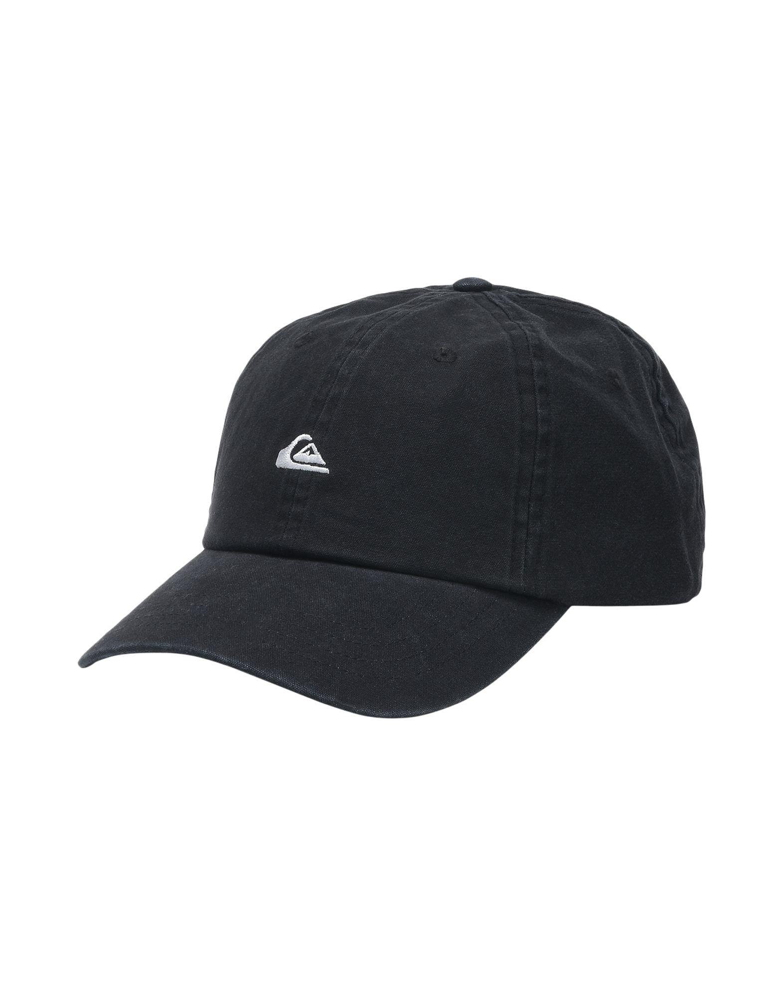 《送料無料》QUIKSILVER メンズ 帽子 ブラック one size コットン 100% QS Cappellino Papa Cap