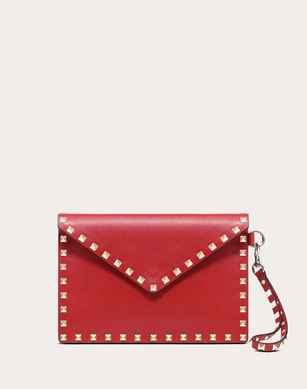 Rockstud Medium Flat Pouch