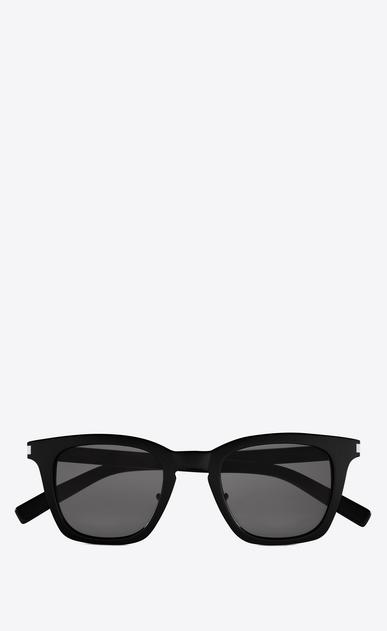 SAINT LAURENT CLASSIC E classic 138 slim sunglasses in shiny black acetate with smoke lenses a_V4