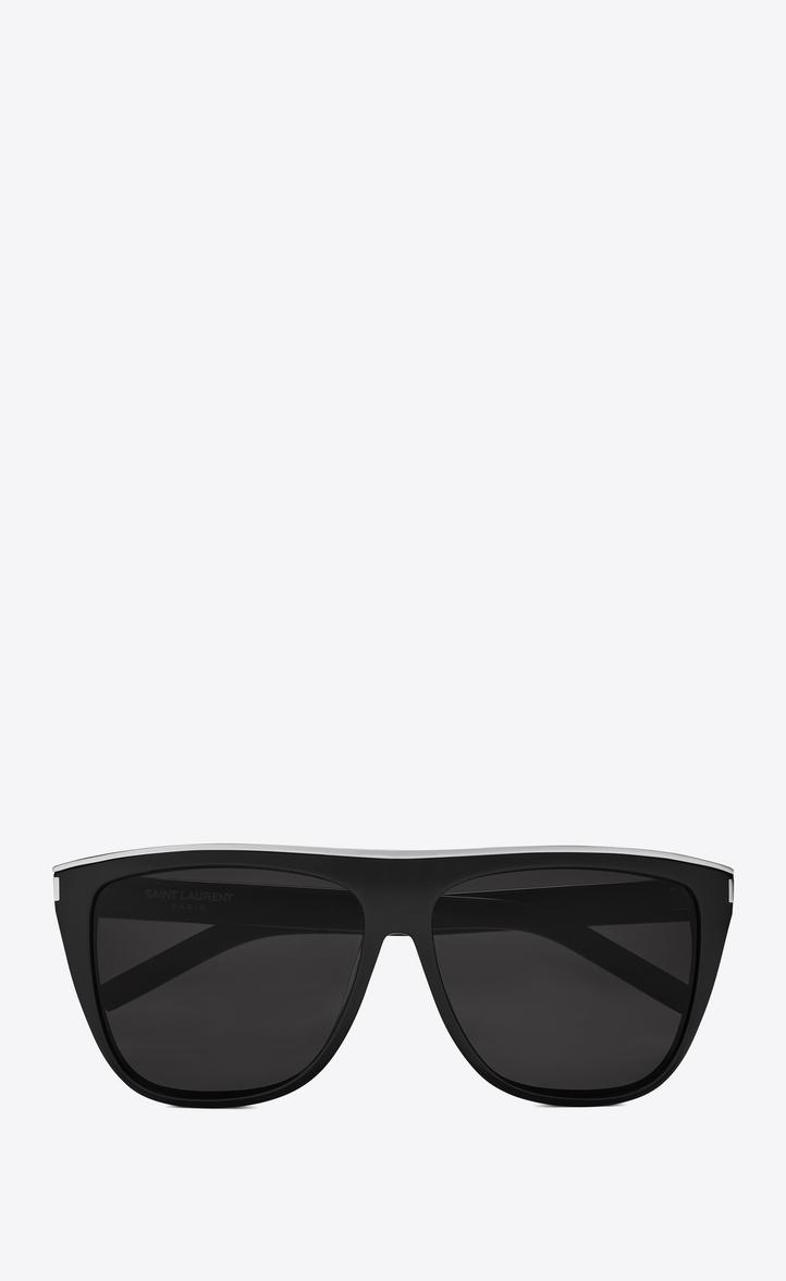 Saint Laurent New Wave Sl 1 Sunglasses In Black Acetate