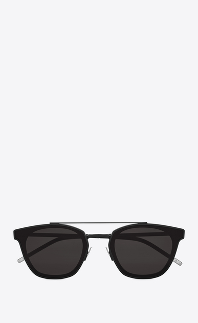 SAINT LAURENT CLASSIC E classic 28 sunglasses in matte black metal with smoked lenses a_V4