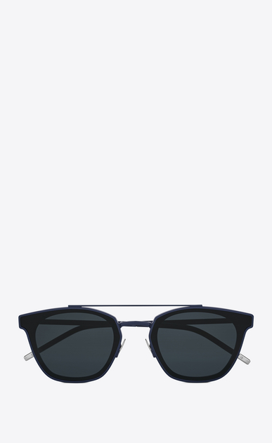 SAINT LAURENT CLASSIC E classic 28 sunglasses in blue metal and black acetate with blue lenses a_V4
