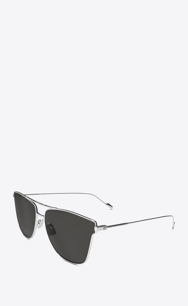 SAINT LAURENT CLASSIC E 51 t sunglasses in silver titanium and gray lenses b_V4