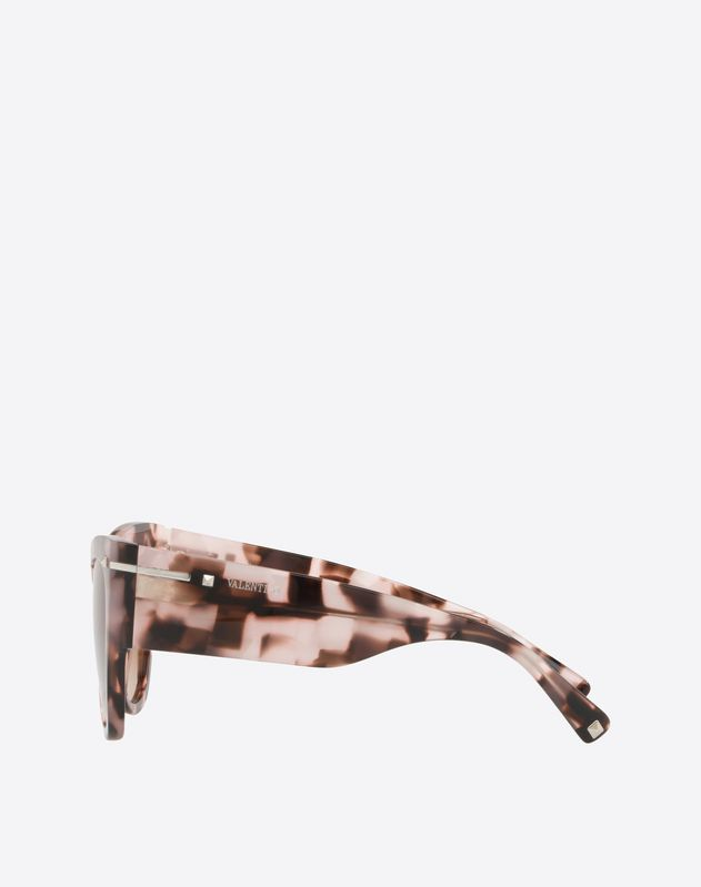 ACETATE CAT-EYE SUNGLASSES WITH GO LOGO