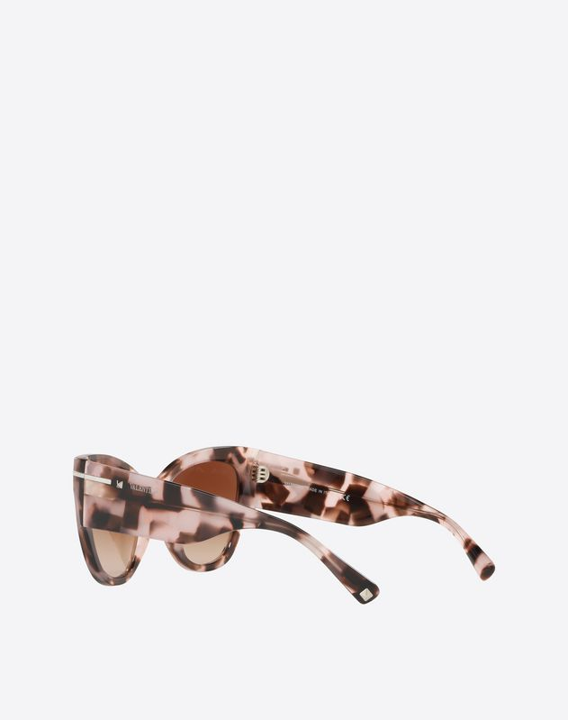 OCCHIALE CAT-EYE IN ACETATO CON GO LOGO