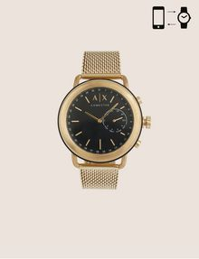 ARMANI EXCHANGE GOLD-TONED HYBRID SMARTWATCH WITH BRACELET BAND Watch E f