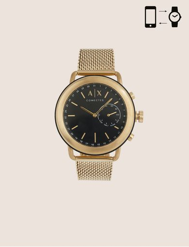 GOLD-TONED HYBRID SMARTWATCH WITH BRACELET BAND