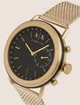 ARMANI EXCHANGE GOLD-TONED HYBRID SMARTWATCH WITH BRACELET BAND Watch E r