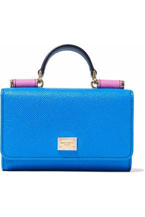 DOLCE & GABBANA Von color-block textured-leather phone case