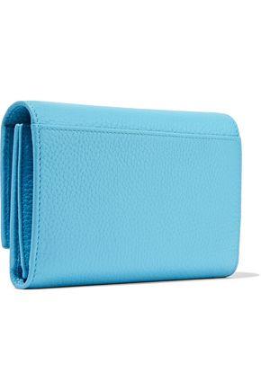 DOLCE & GABBANA Embellished textured-leather wallet