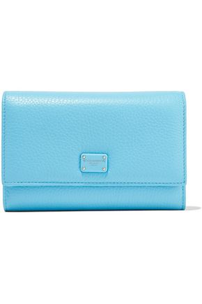 DOLCE & GABBANA Embellished textured-leather wallet