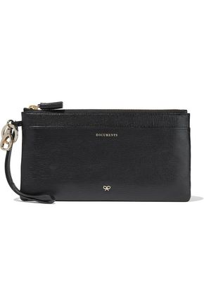 ANYA HINDMARCH Printed textured-leather pouch