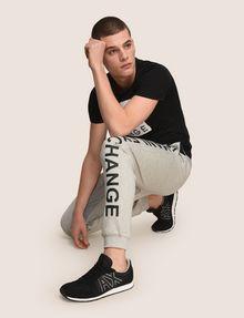 ARMANI EXCHANGE サイドロゴ スウェットジョガーパンツ フリースパンツ メンズ a