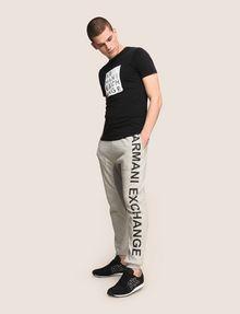 ARMANI EXCHANGE サイドロゴ スウェットジョガーパンツ フリースパンツ メンズ d