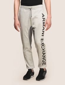 ARMANI EXCHANGE サイドロゴ スウェットジョガーパンツ フリースパンツ メンズ f
