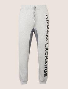 ARMANI EXCHANGE サイドロゴ スウェットジョガーパンツ フリースパンツ メンズ r