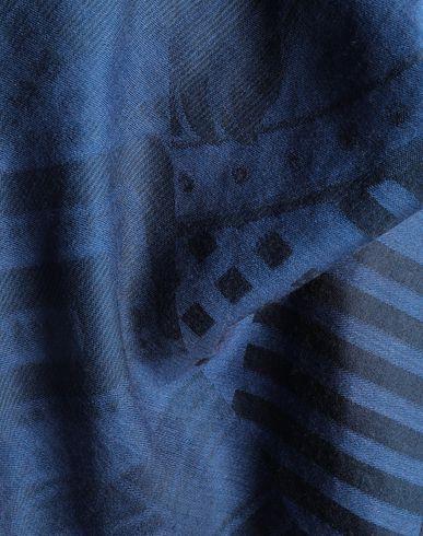 Фото 2 - Женский платок  синего цвета