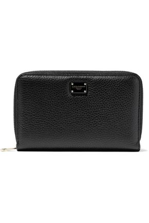 DOLCE & GABBANA Pebbled-leather wallet