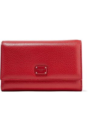 DOLCE & GABBANA Embellished-textured leather wallet