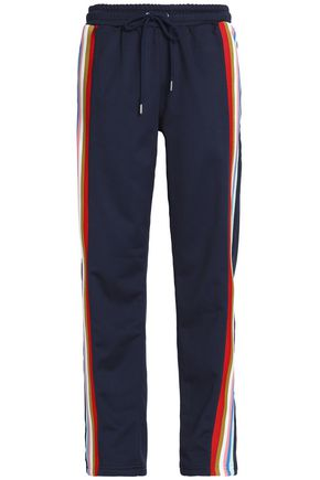 ALEXACHUNG Striped jersey track pants
