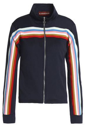 WOMAN STRIPED JERSEY TRACK JACKET NAVY