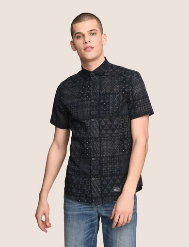 GEOMETRIC MIX SHORT-SLEEVE SHIRT
