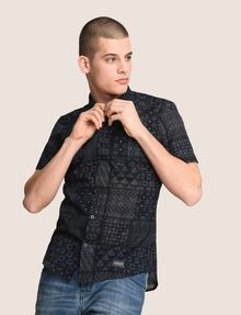 ARMANI EXCHANGE GEOMETRIC MIX SHORT-SLEEVE SHIRT Short-Sleeved Shirt Man a
