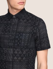 ARMANI EXCHANGE GEOMETRIC MIX SHORT-SLEEVE SHIRT Short-Sleeved Shirt Man b