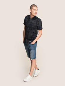 ARMANI EXCHANGE GEOMETRIC MIX SHORT-SLEEVE SHIRT Short-Sleeved Shirt Man d