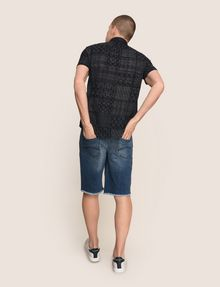 ARMANI EXCHANGE GEOMETRIC MIX SHORT-SLEEVE SHIRT Short-Sleeved Shirt Man e