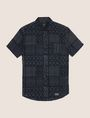 ARMANI EXCHANGE GEOMETRIC MIX SHORT-SLEEVE SHIRT Short-Sleeved Shirt Man r