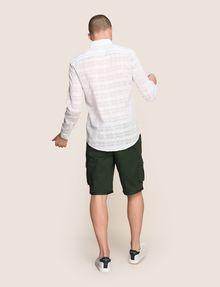 ARMANI EXCHANGE GEOMETRIC MIX BUTTON-DOWN SHIRT Long-Sleeved Shirt Man e