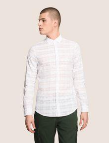 ARMANI EXCHANGE GEOMETRIC MIX BUTTON-DOWN SHIRT Long-Sleeved Shirt Man f