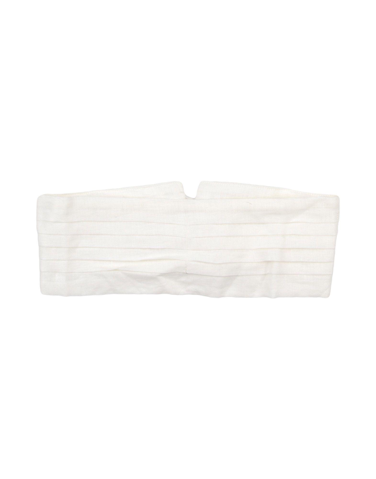 BLACK CRANE Fabric Belt in White