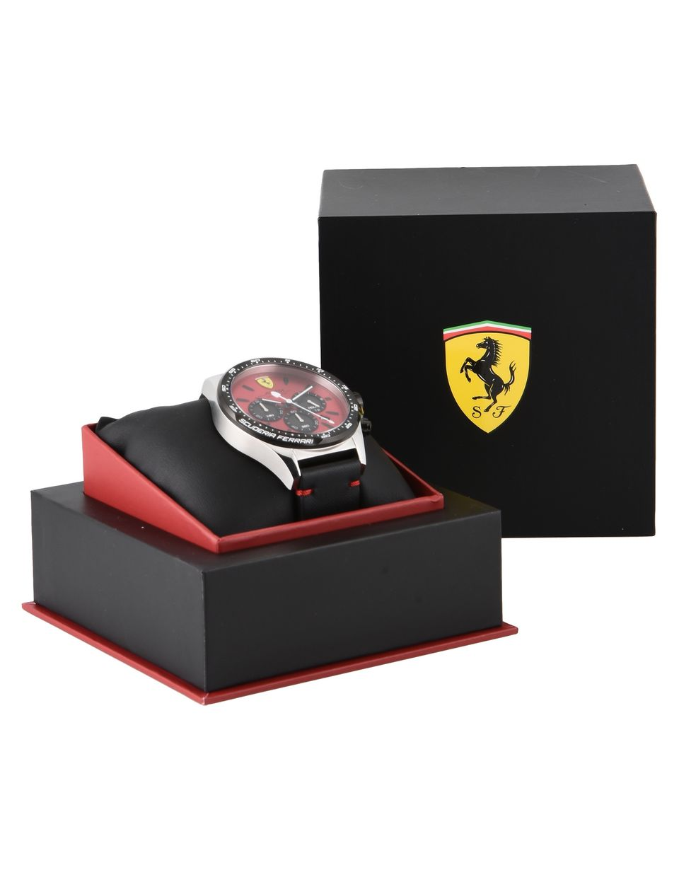 Scuderia Ferrari Online Store - Pilota watch with red dial - Quartz Watches