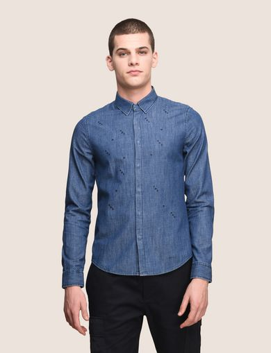 ARMANI EXCHANGE Denim Shirt Man F