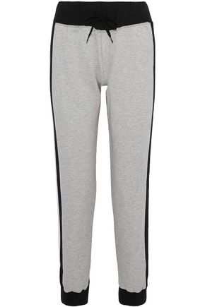 BODYISM Emily mesh-paneled two-tone cotton-blend track pants