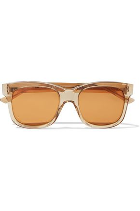 CHRISTOPHER KANE Square-frame acetate mirrored sunglasses