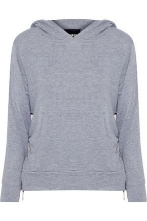 MONROW Stretch-jersey hooded sweatshirt