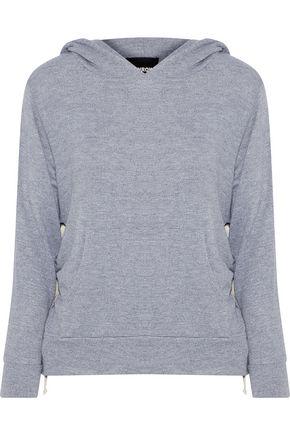 MONROW Stretch-jersey hooded sweatshirt
