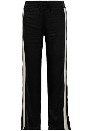 MONROW Striped satin track pants